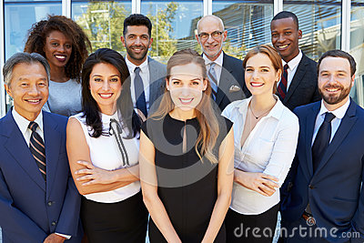 Outdoor Portrait Of Multi-Cultural Business Team