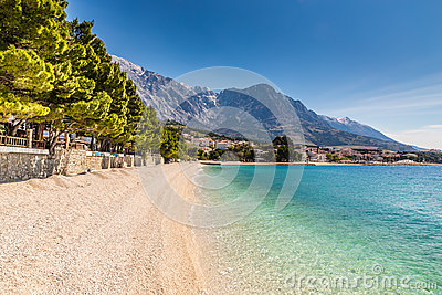 Brela Village,Beach And Biokovo - Makarska,Croatia