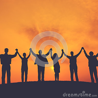 Business People Teamwork Successful Freedom Aspiration Concept