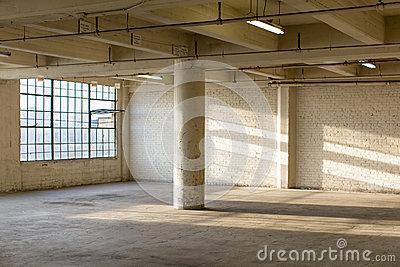 Abandoned Industrial Factory Warehouse Interior