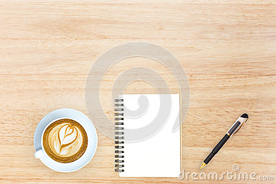 Top view desk top with office items hero image design header wit
