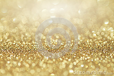 Abstract golden glitter background. Celebration and christmas background.
