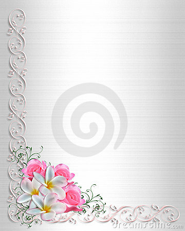 Wedding Invitation Background Floral Border