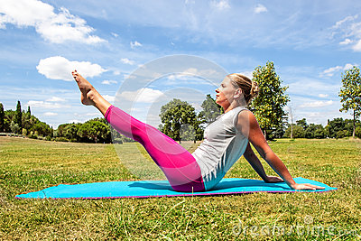 Fitness for young woman working out to keep fit outside