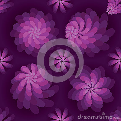 Flower rotate windmill purple mist seamless pattern