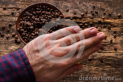 Man demonstrates the abandonment of coffee