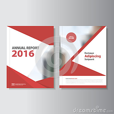 Red Vector annual report Leaflet Brochure Flyer template design, book cover layout design, Abstract red templates set