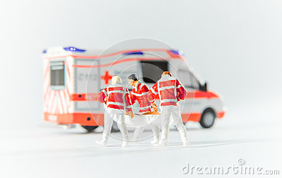 Paramedics transport a patient