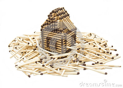 House built from matches