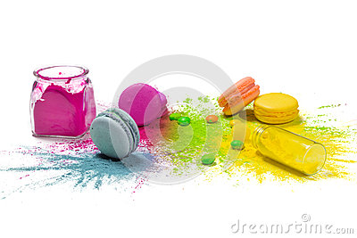 Colorful food paint