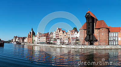 Gdansk old city panorama, Poland