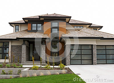 New Large Custom Home Exterior