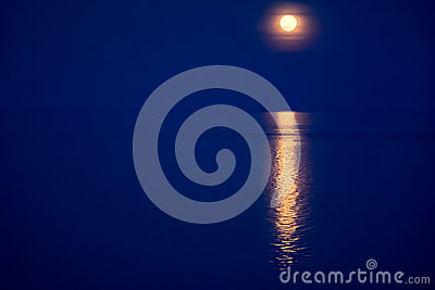 Moon light gleam in water - beautiful background