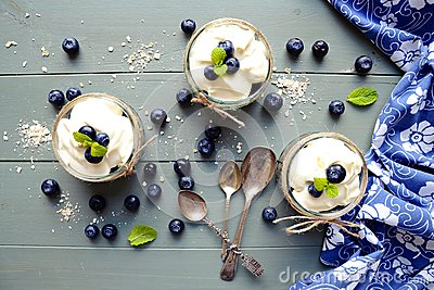 stock image of granola desserts