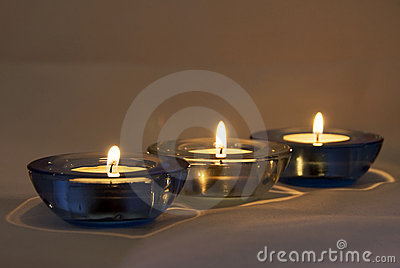 Candles lighted - atmosphere