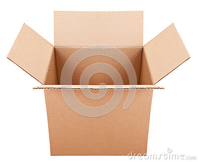 Pasteboard box on the white background