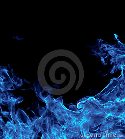 Perfect blue fire background