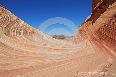 USA, Arizona/Coyote Buttes: Entrance to the The Wave