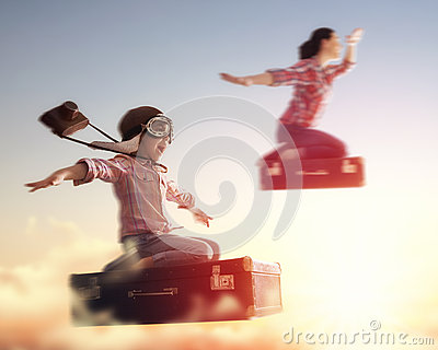 stock image of dreams of travel!