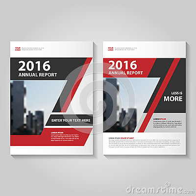 Abstract red black annual report Leaflet Brochure Flyer template design, book cover layout design