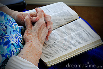 Gnarly Saintly Hands on Bible