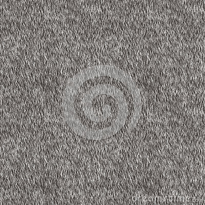 Vector Seamless Pattern. Gray Fur Background.