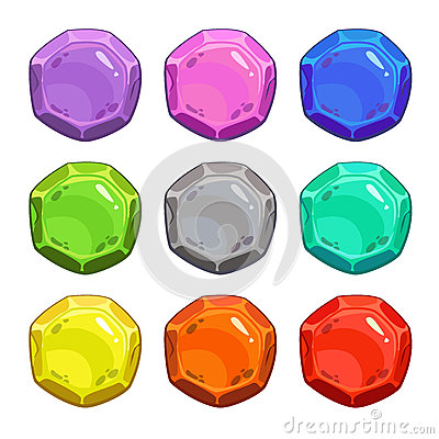 Funny cartoon colorful vector buttons