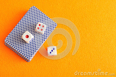 Dice and a deck of cards