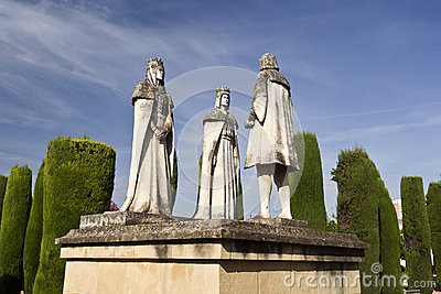 Statues of the Catholic Monarchs and Christopher Columbus