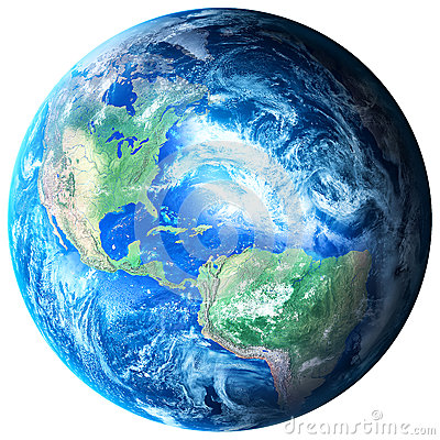 Planet Earth on transparent background - PNG