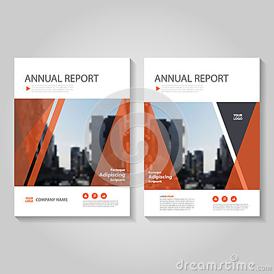 Red Vector annual report Leaflet Brochure Flyer template design, book cover layout design, Abstract blue presentation templates