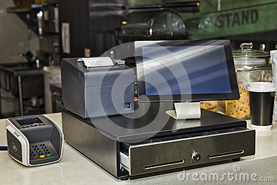 Cafe Tablet POS counter