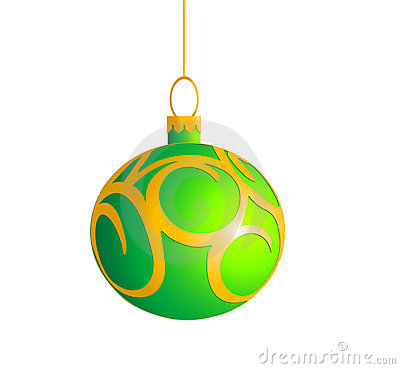 Single Green Christmas ball