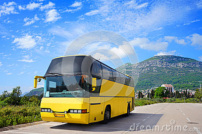 Touristic bus on the parking