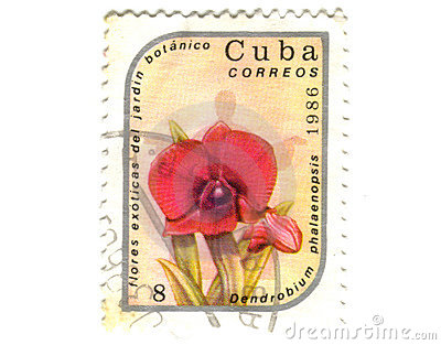 Old postage stamp from Cuba
