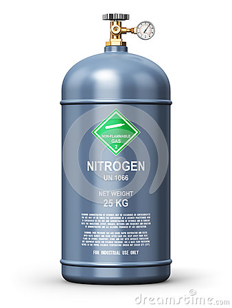 Liquefied nitrogen industrial gas container