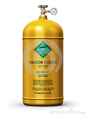 Liquefied carbon dioxide industrial gas container