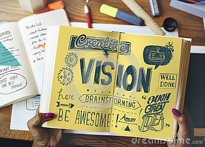 Vision Visionary Objectives Future Brainstorming Concept