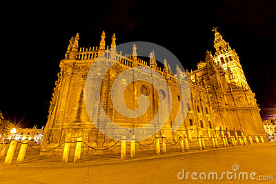 Cathedral of Seville by night