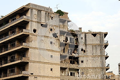 Ruins from Lebanese Civil War