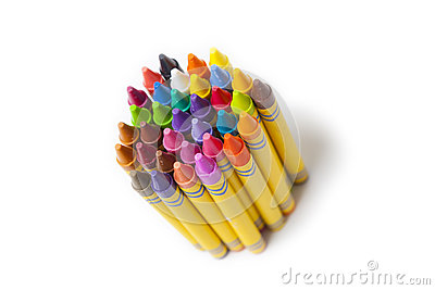 Set of coloring crayons