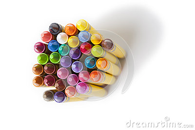 Wax coloring crayons