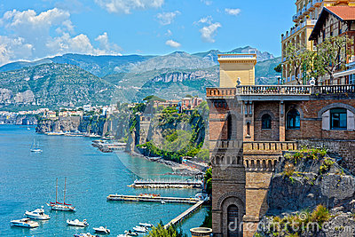 Sorrento coast, south of Italy
