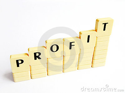 Increase in profit abstract concept