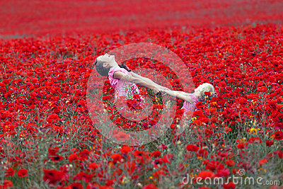 Girls with poppies