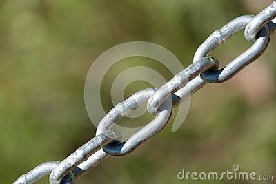 Links in a steel chain