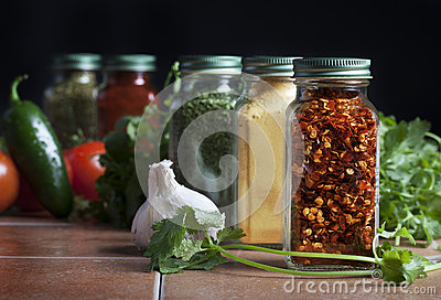 Glass Bottles Spices