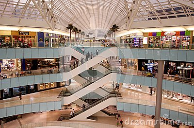 Modern Upscale Shopping Mall