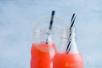 Summer drink with fruit punch juice