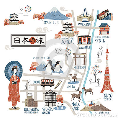 Japan walking map